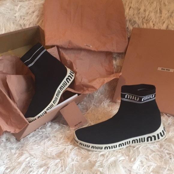 Miu Miu Shoes   Miu Miu Sock Sneaker